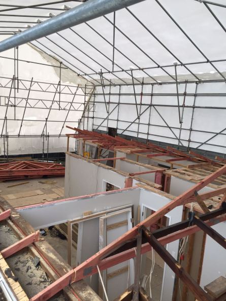 Roof removed, floor extended